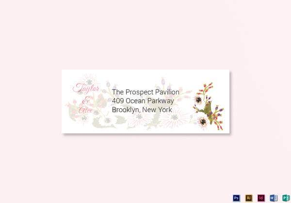 wedding address labels card