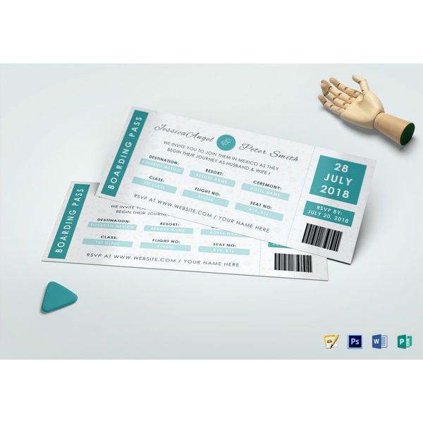 wedding ceremony invitation ticket template