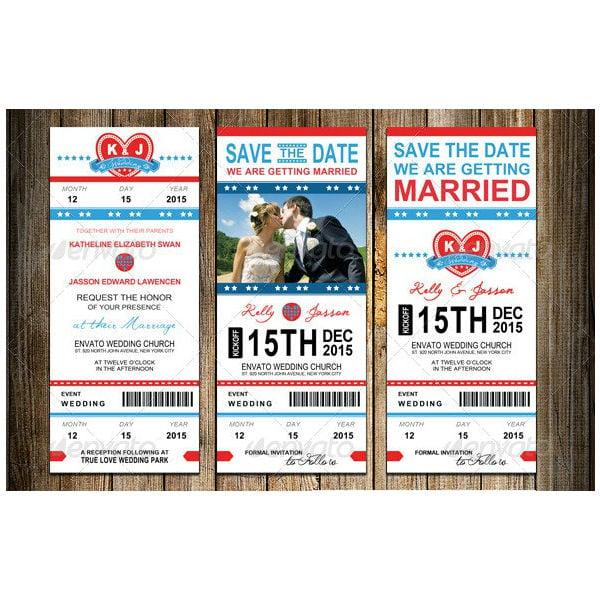 wedding invitation package sports pass