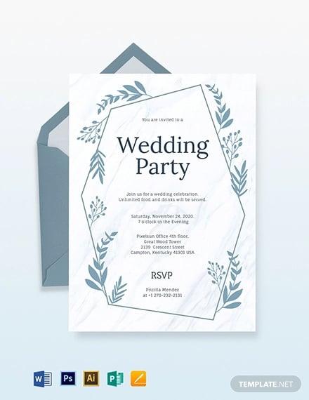 42+ Wedding Invitations Templates in PDF | Free & Premium Templates