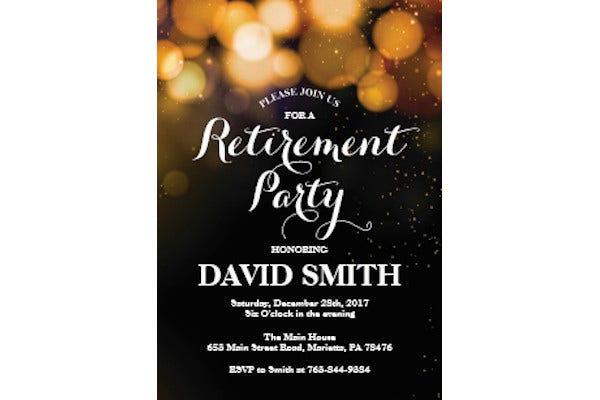 womens retirement party flyer template