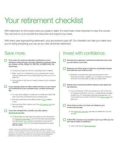 your retirement checklist