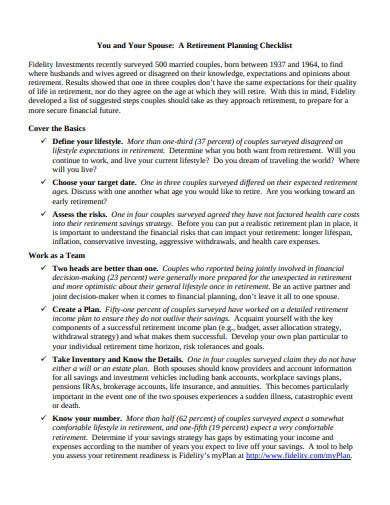 your retirement planning checklist template