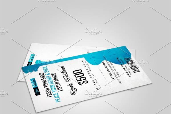brochure ticket