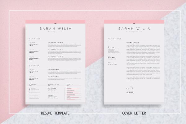 clean marketing resume 1