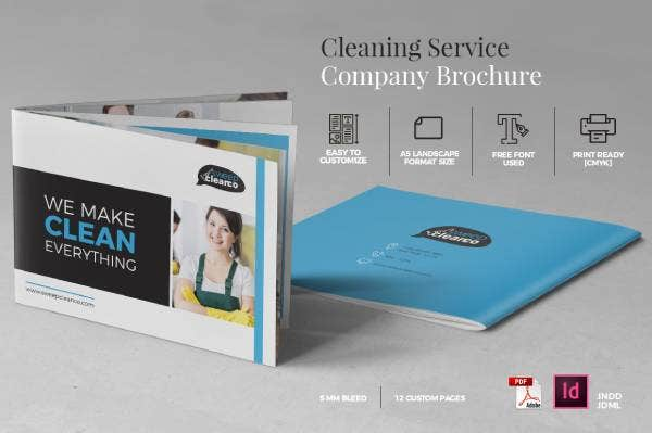 cleaning company brochure preview1