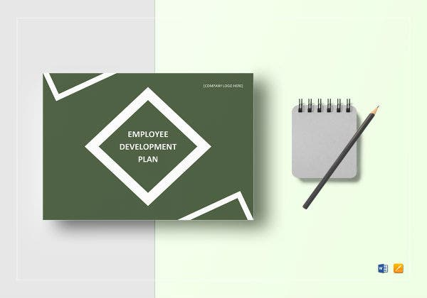employee development plan template mockup