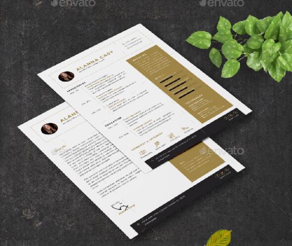 minimalist marketing resume 1