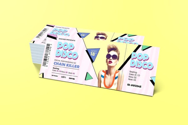 music ticket template 1