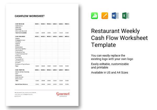 587 weekly cash flow worksheet 1