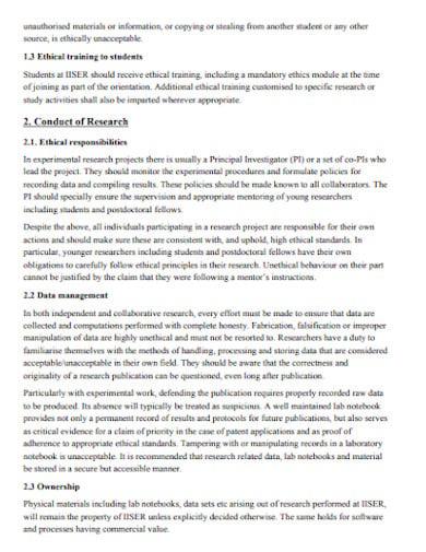 academic ethics research