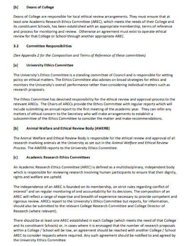academic research ethics committees