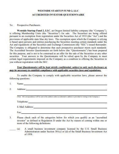 Accredited Investor Questionnaire Template from images.template.net