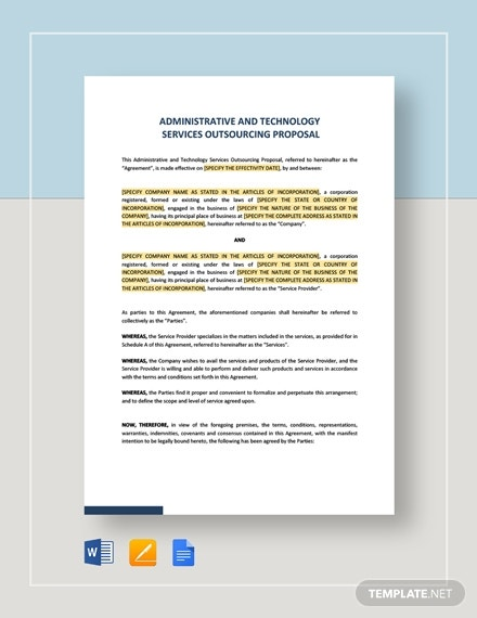 administrative and technology services outsourcing proposal1