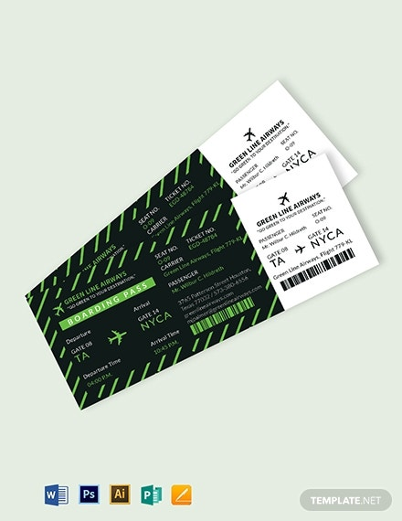airplane boarding pass ticket template 1