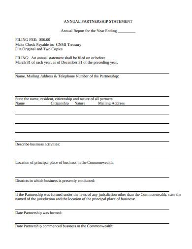 annual partnership statement