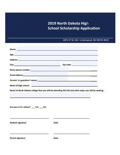 army high school scholarship application