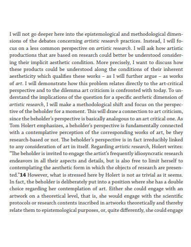 artist research challenge art criticism