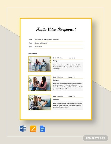 audio video storyboard template1
