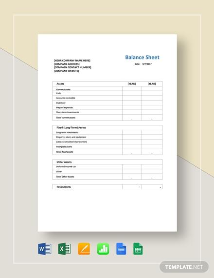 balance sheet 21