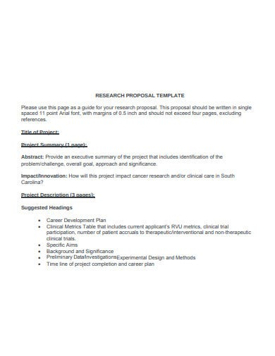 basic clinical research proposal template