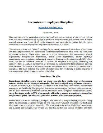 basic employee discipline