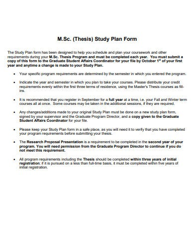 basic research study proposed plan template