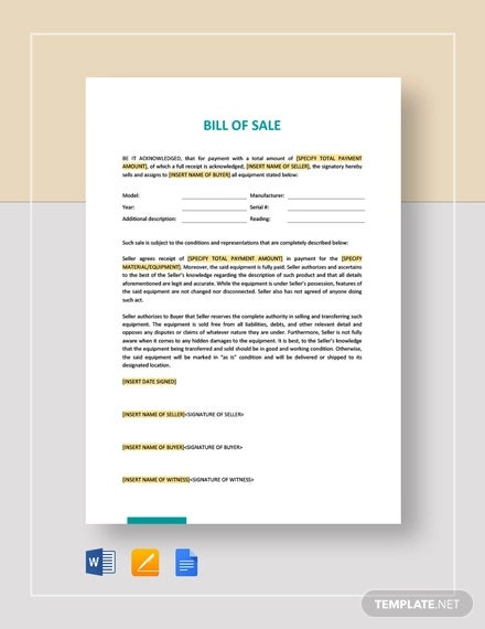bill of sale template2