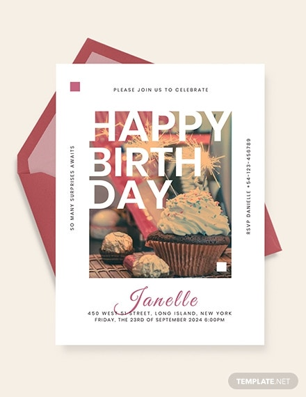 birthday event invitation template 1