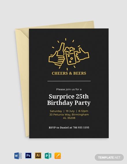 birthday surprise invitation