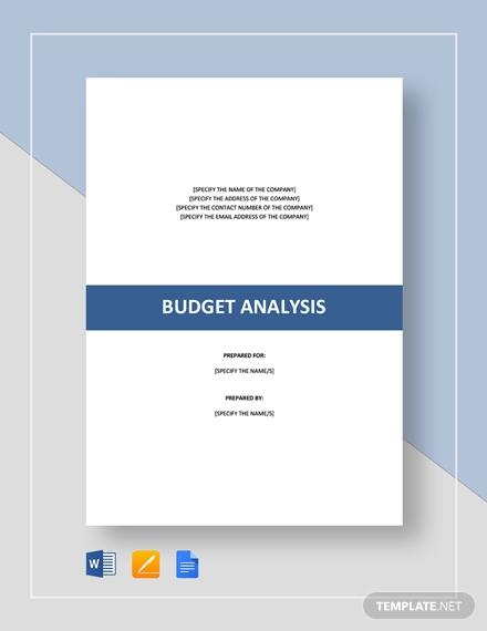 budget analysis 21