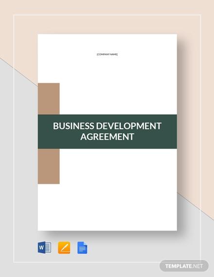 business development agreement 2