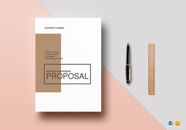 business partnership proposal template 1