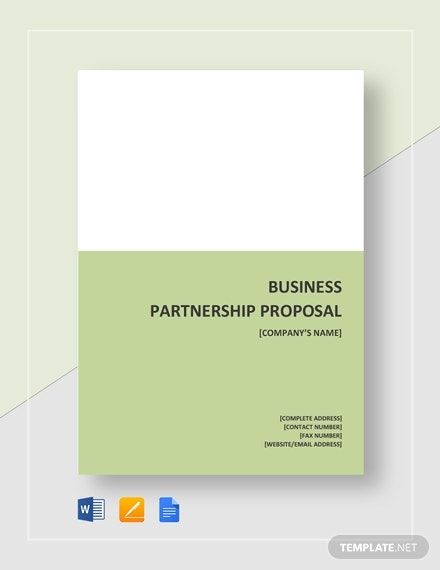 business partnership proposals