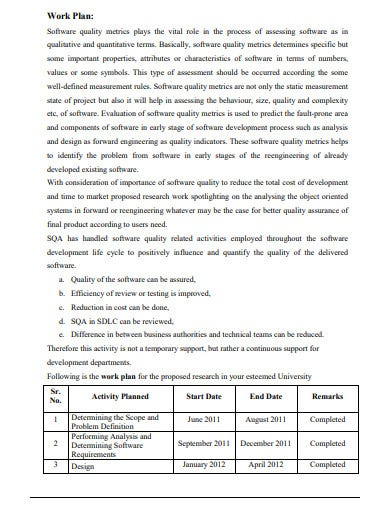 business research work plan template
