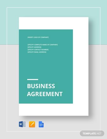 business agreement between two parties