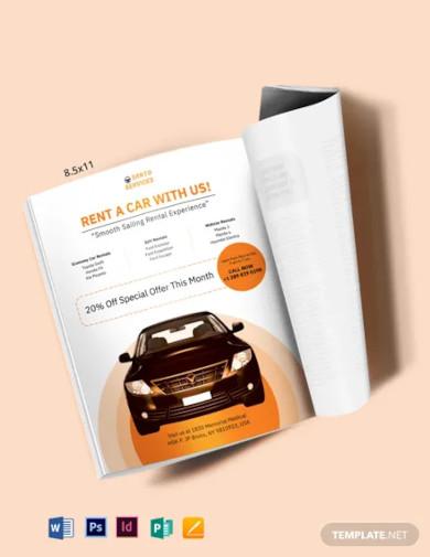 car rental magazine ads template