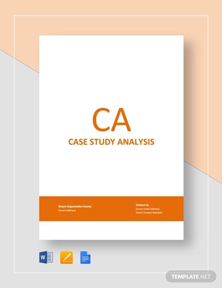 case study analysis template