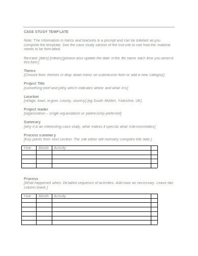 case study release form example