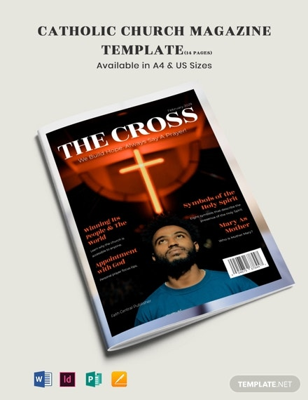 catholic church magazine template