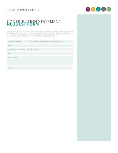 church contributions statement request form