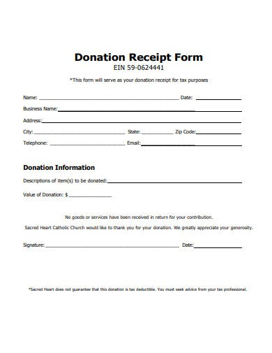 Tax Deductible Donation Receipt Template from images.template.net