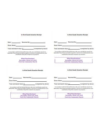 church donation receipt template