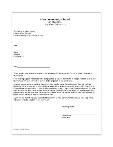 church donation receipt in pdf