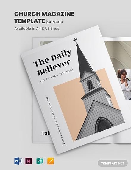 church magazine template 1
