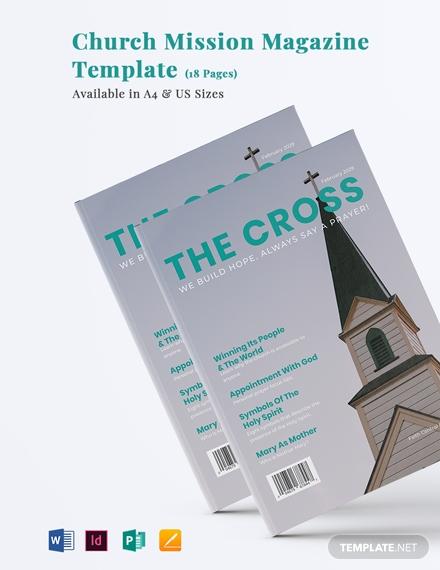 church mission magazine template 1