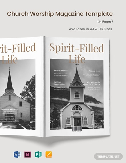 church worship magazine template 1