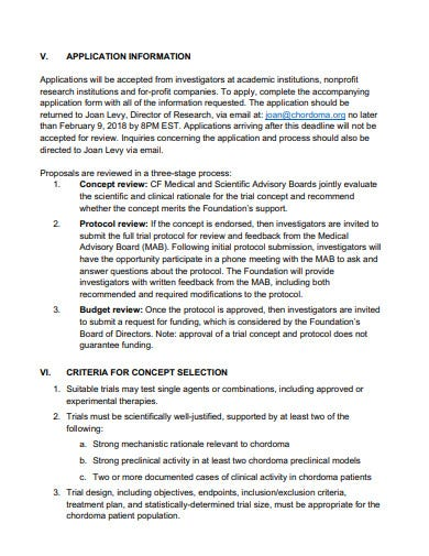 clinical trial program research proposal template