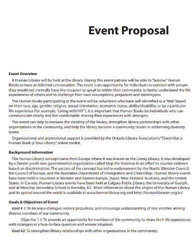 community event general proposal