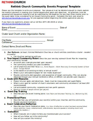 community event proposal template
